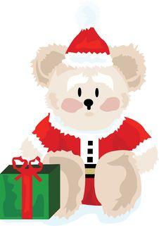 Free Cute Christmas Bear Royalty Free Stock Photo - 3695615