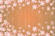 Winter Snowflake Background Royalty Free Stock Photography