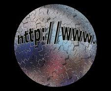 Free Jigsaw Globe Web Address Royalty Free Stock Photo - 3696065