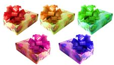 Ribbon Tied Box Stock Image