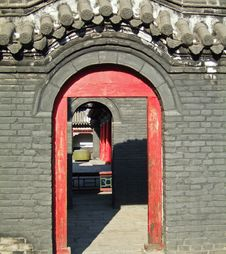 Free Gates Of A Temple Royalty Free Stock Image - 3697826