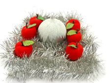 Free Christmas Bulbs With Apples Stock Photo - 3697880