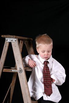 Free Boy On Ladder Royalty Free Stock Image - 3699556