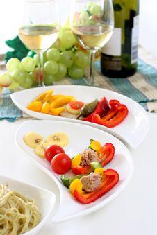 Free Salad Sides Royalty Free Stock Photo - 3699565