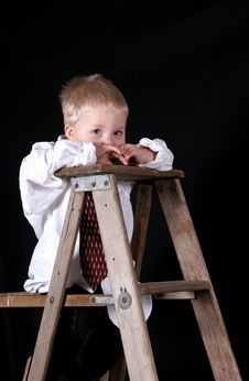 Free Boy At The Top Royalty Free Stock Images - 3699629