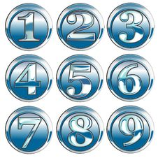 Free Chrome Button Number Icon Stock Photos - 3699853