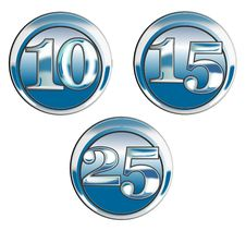 Free Chrome Button Number Icon Stock Photos - 3699863