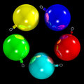 Free 5 XMAS BALLS 1- ALPHA CHANNEL Royalty Free Stock Photography - 378417