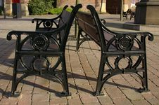 Free Public Benches 01 Royalty Free Stock Photography - 370087
