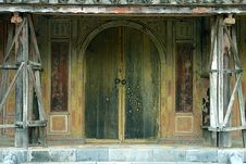 Free Old Vietnamese Door Stock Photo - 370980