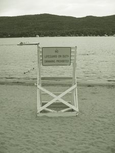 Free No Lifeguard On Duty Stock Photos - 375013