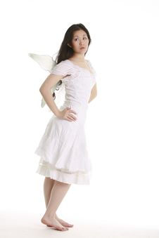 Free White Angel Royalty Free Stock Photo - 375155