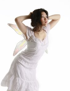 Pretty Fairy Lifting Her Hair Royalty Free Stock Image