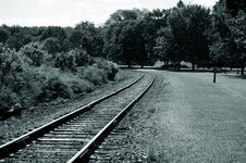 Free Train Track Royalty Free Stock Photography - 376247