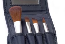 Free Four Beauty Brushes Stock Photography - 379132