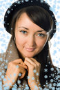 Free Girl  In Outer Clothing  Beret Royalty Free Stock Photos - 3706638