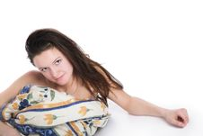 Free The Girl Under A Blanket Royalty Free Stock Photos - 3700358