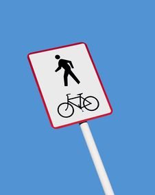 Free Cycle And Walkway Sign Stock Images - 3701024