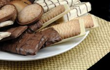 Assorted Cookies On A Plate Royalty Free Stock Photos