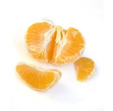 Free Cut Tangerine With White Backg Royalty Free Stock Photo - 3701985
