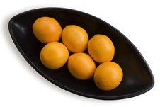 Free Black Japanese Vase With Oranges 1 Royalty Free Stock Images - 3702719
