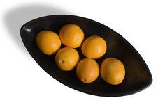 Free Black Japanese Vase With Oranges 2 Stock Image - 3702731