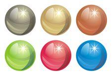 Decorative Spheres Stock Images