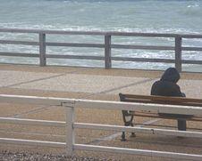 Along The Beach Etretat France Stock Image