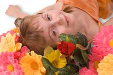 Free The Girl And Flowers Stock Photo - 3705600