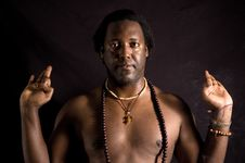 Free Man Doing Yoga Stock Photography - 3707262