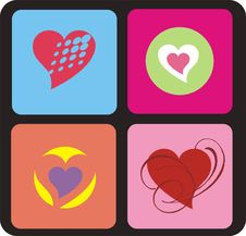 Free Retro Hearts Background Stock Photography - 3708212