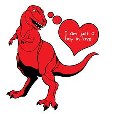 Free Valentine S Day Dino Love Stock Photo - 37067010