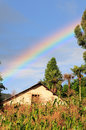 Free Rainbow Over A Small Hani Village Stock Photos - 3711373