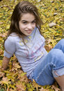 Free Girl In Leaves Stock Images - 3716824