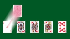Free Blurred Playing Cards Royalty Free Stock Image - 3710106