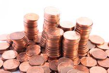 Free Piles Of Coins Royalty Free Stock Photo - 3710135