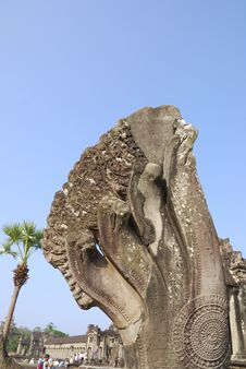 Free Naga Sculpture At Angkor Wat Stock Photography - 3710202