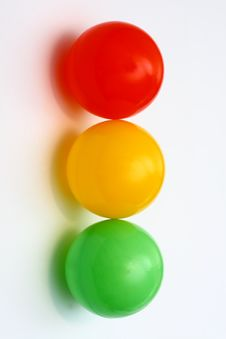 Free Traffic Light From Color Balls Stock Images - 3710874