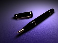 Close-up Of Fountain Pen Stock Images