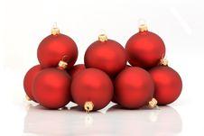 Free Red Christmas Balls Royalty Free Stock Photos - 3712548