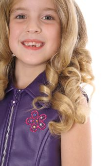 Free Little Blonde Curls Headshot Royalty Free Stock Photography - 3713577