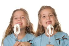 Free Children Begging To Lick Beaters Royalty Free Stock Images - 3713909