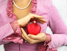 Free Woman And Heart Royalty Free Stock Image - 3714166