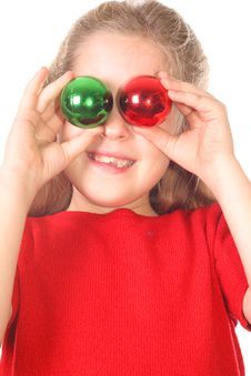 Free Kid Christmas Ornament Eyes Vertical Royalty Free Stock Photo - 3714425