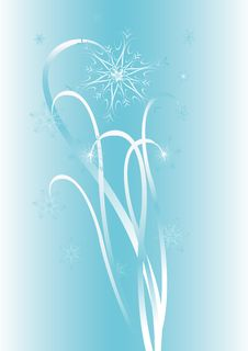 Free Vector Background With Snowflakes Stock Images - 3714434