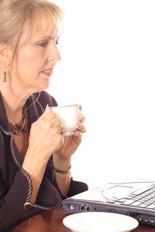 Free Business Woman Taking A Break Royalty Free Stock Image - 3714576