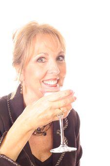 Free Gorgeous Woman Drinking Royalty Free Stock Photos - 3714588