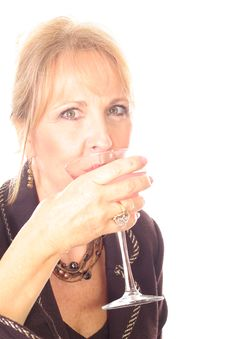 Free Business Woman Drinking Royalty Free Stock Image - 3714596