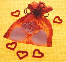 Bag With Hearts Royalty Free Stock Photo