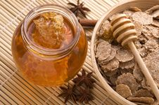 Free Fresh Honey With Honeycomb, Spices And Breakfast F Royalty Free Stock Photo - 3715165